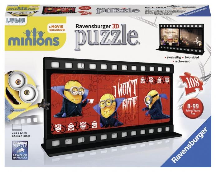 Ravensburger Puzzel Minions 3D: 108 stukjes (112098)