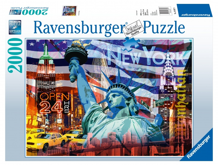 Ravensburger Puzzel New York Collage: 2000 stukjes