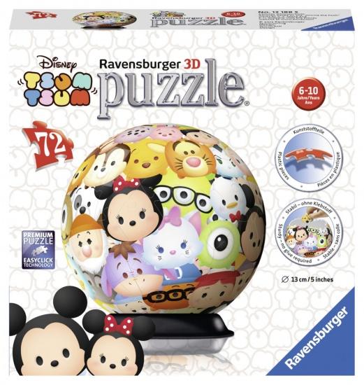 Ravensburger Puzzel Tsum Tsum 3D: 72 stukjes