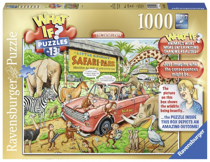 Ravensburger Puzzel What If 13: The Safari Park 1000 stukjes
