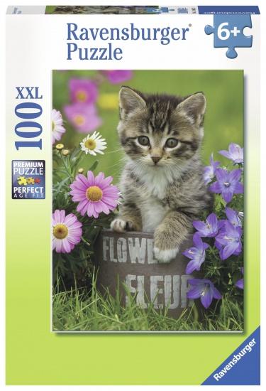 Ravensburger Puzzel XXL Kat tussen de bloemen 100 stukjes