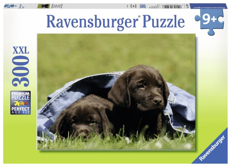 Ravensburger Puzzel XXL Labrador pups: 300 stukjes