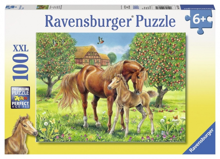 Ravensburger Puzzel XXL Paarden in de wei: 100 stukjes