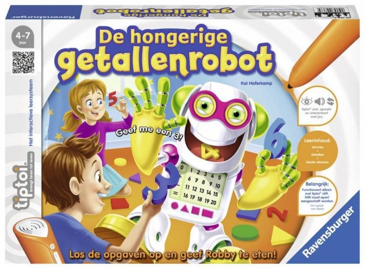 Ravensburger Spel Tiptoi: De hongerige getallenrobot