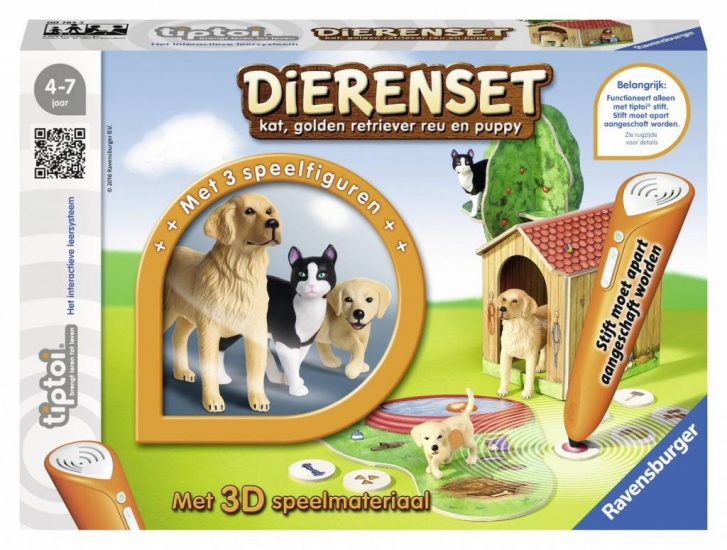 Ravensburger Spel Tiptoi: Dierenset Golden Retriever en Kat