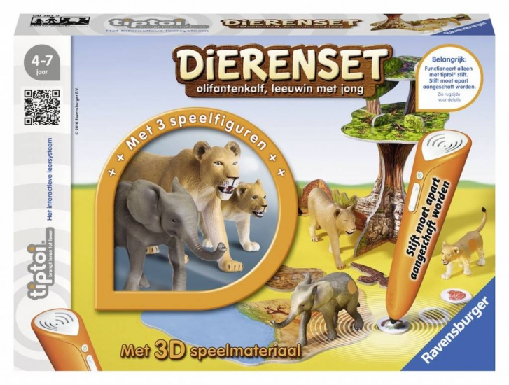 Ravensburger Spel Tiptoi: Dierenset Leeuwen en Olifant