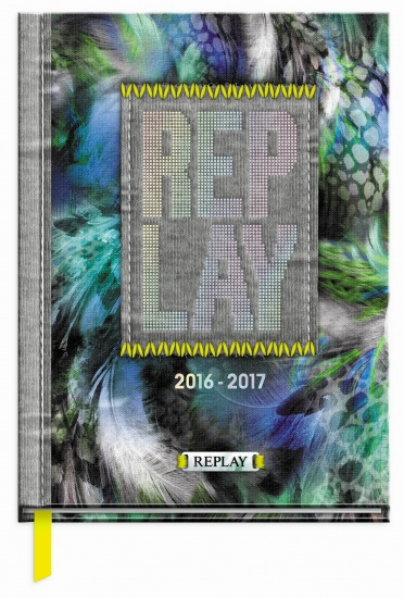 Replay Agenda Girls Peacock 2016/2017 Grijs