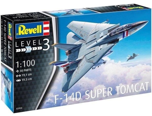 Revell modelbouwdoos F 14D Super Tomcat 19 cm schaal 1:100