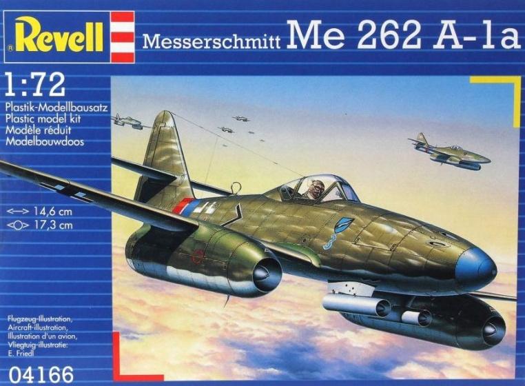 Revell modelbouwdoos Me 262 A 1a 14 cm schaal 1:72