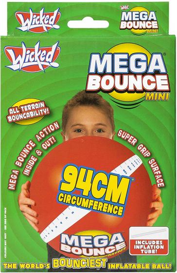 Wicked bal Mega Bounce Mini junior 94 cm rood 2 delig