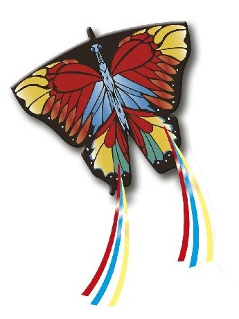 Rhombus vlieger pop up Butterfly 97 x 85 cm
