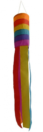 Rhombus vlieger Wind Sock 60 cm junior nylon multicolor