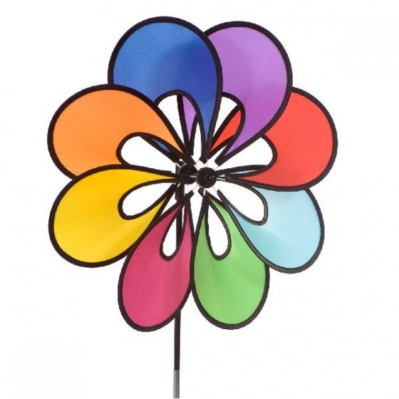 Rhombus Windmolentje bloem S met 8 blaadjes 73 cm