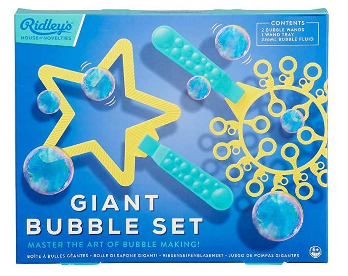 Ridley's Games bellenblaasset junior blauw/geel 4 delig