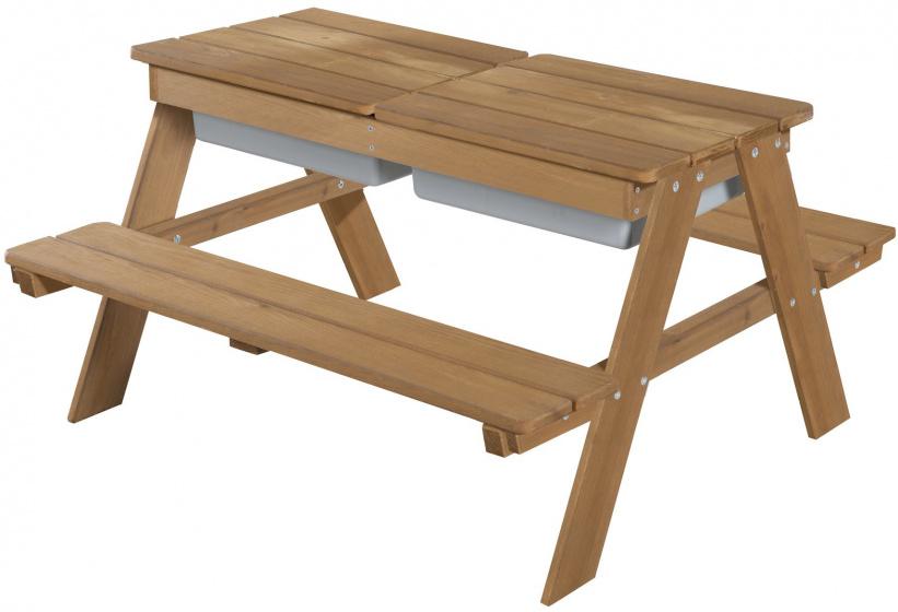 Roba picknick en speeltafel Outdoor+ junior 89 cm hout bruin