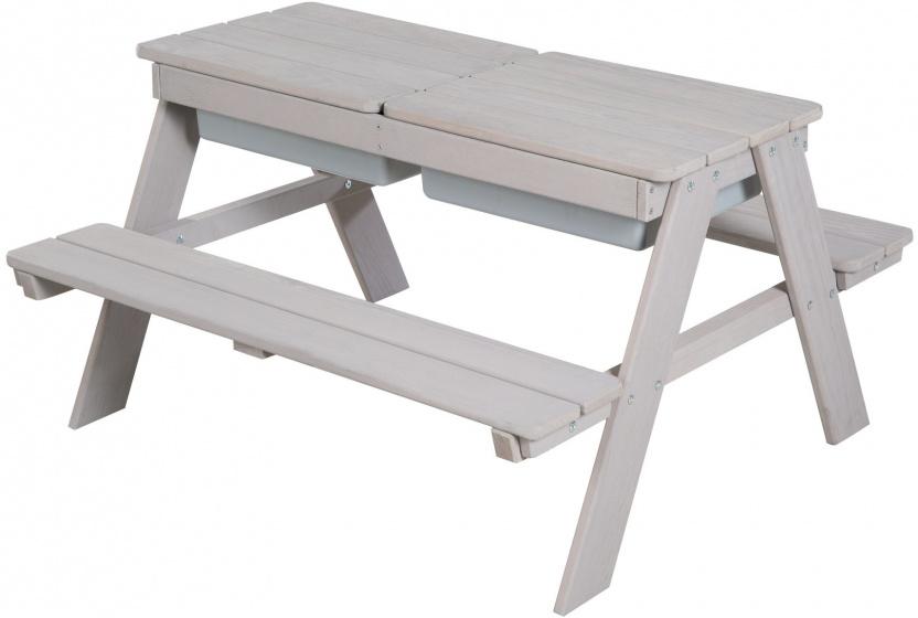 Roba picknick en speeltafel Outdoor+ junior 89 cm hout wit