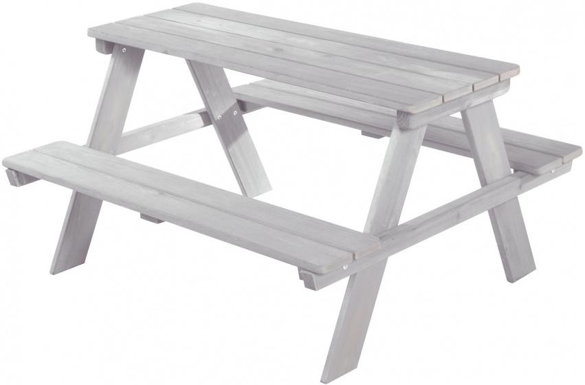 Roba picknicktafel Outdoor+ junior 84,5 x 89 x 50 cm grijs