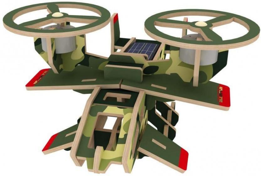 Robotime 3D modelbouw Samson P350S 19 cm hout groen 30 delig