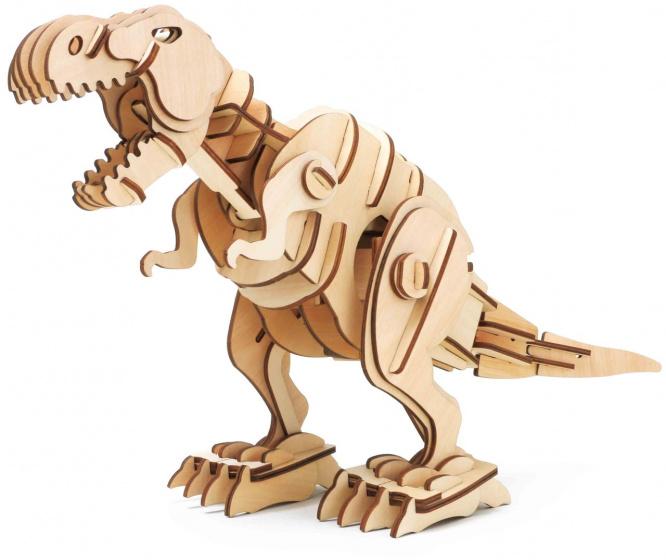 Robotime 3D modelbouw T Rex 40,7 cm hout naturel 102 delig