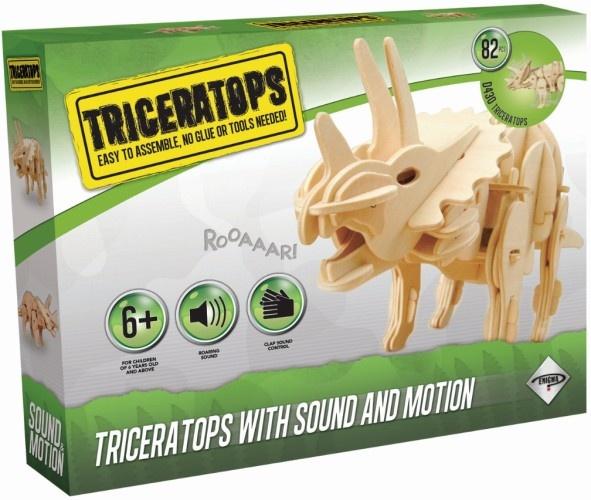 Dinosaur Triceratops 3d Robotime