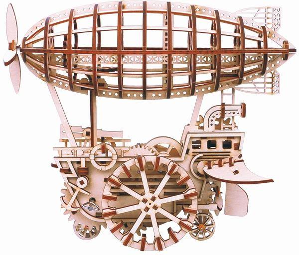 Robotime modelbouw Luchtschip LK702 hout 30 cm blank