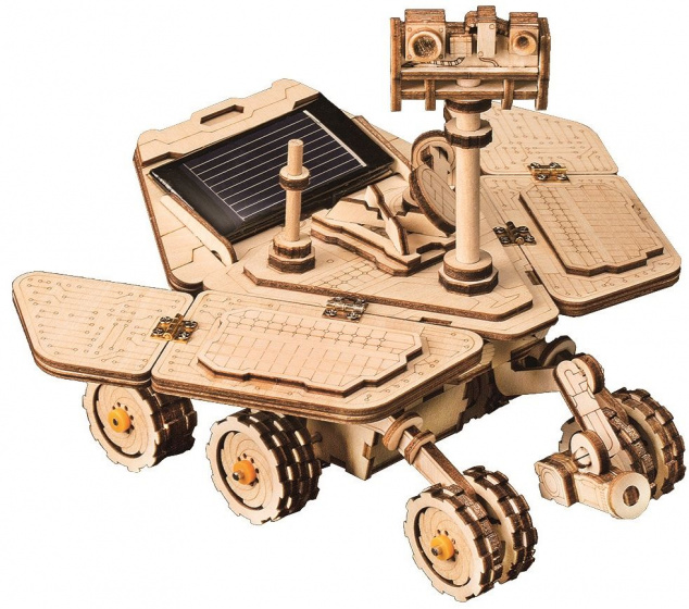 Robotime modelbouw Opportunity Rover Solar hout 16 cm blank