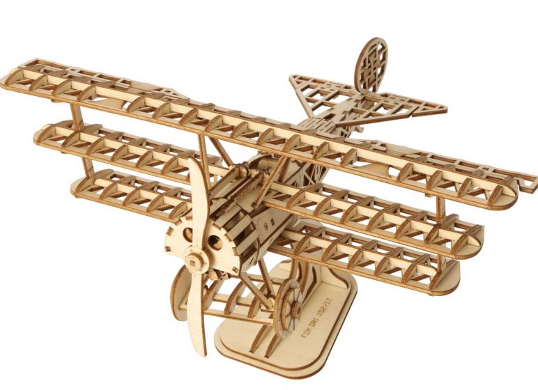 Robotime modelbouwpakket Airplane 21 x 12 cm hout 145 delig