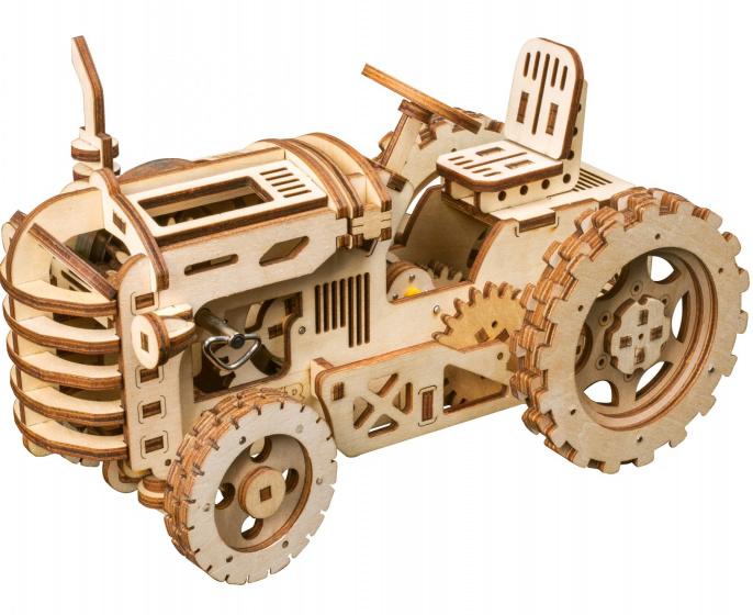 Robotime modelbouwpakket Tractor 24 x 12 cm hout 135 delig