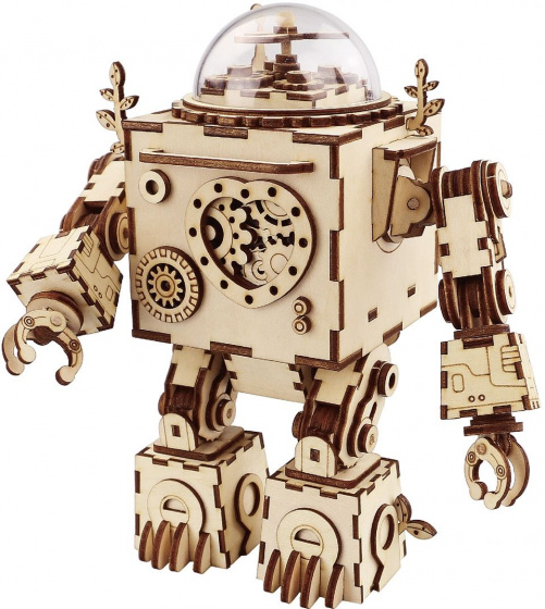 Robotime modelbouwset Orpheus hout 18,5 cm blank 221 delig