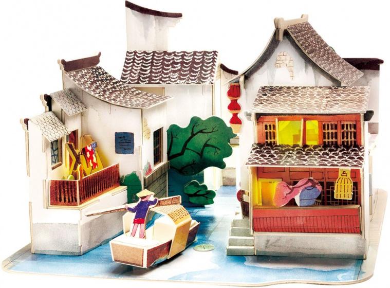 Robotime Zuid China SJ508 DIY miniatuur huis met LED licht 139 delig