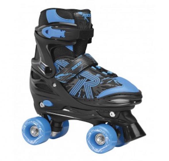 Roces quaddy 3.0 rolschaatsen zwart/blauw 38 41