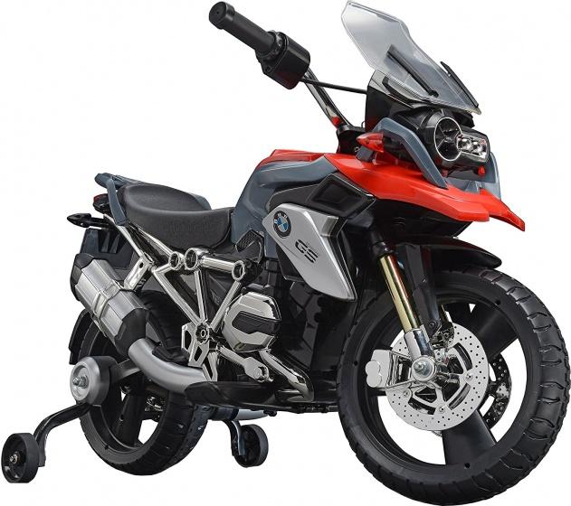 Rollplay accuvoertuig BMW 1200 motor 6V zwart/rood