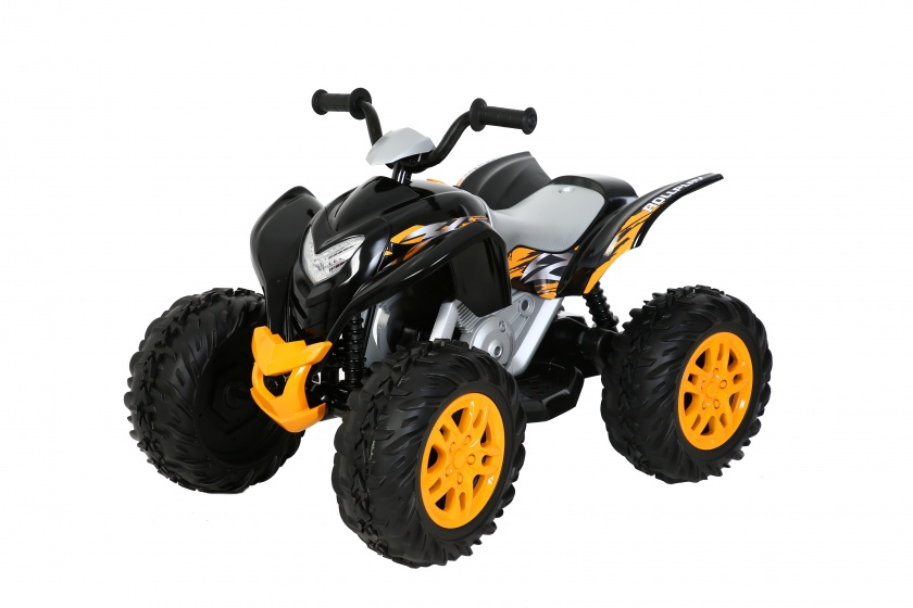 Rollplay accuvoertuig Powersport ATV quad 12V zwart