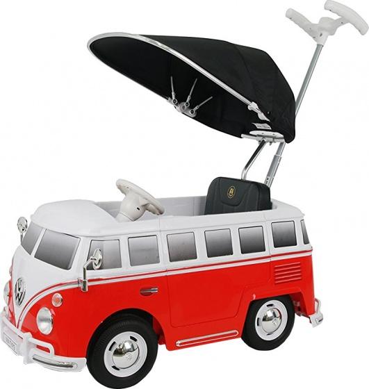 Rollplay duwauto met zonnescherm volkswagen bus t2 rood wit 224198