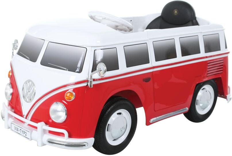 Rollplay volkswagen bus t2 accuvoertuig 6 volt rood wit 223846