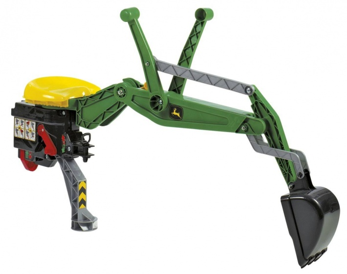 Rolly Toys achterlader Backhoe John Deere groen