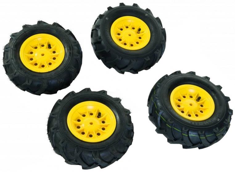 Rolly Toys luchtbanden RollyFarmtrac Premium zwart/geel 4 stuks