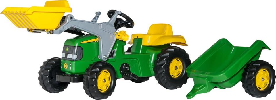 Rolly Toys 023110 RollyKid John Deere Tractor met Lader en Aanhanger