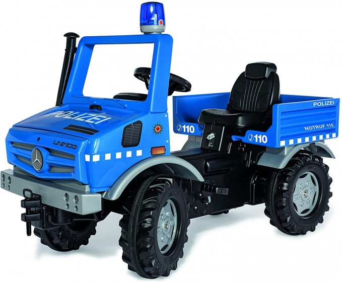 Rolly Toys RollyUnimog Police Junior Blauw/Zwart