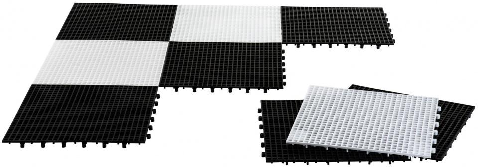 Rolly Toys schaak en damveld 15 cm zwart/wit 64 delig