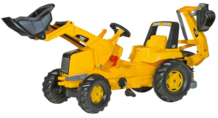Rolly Toys 813001 RollyJunior CAT Tractor met Lader en Graafmachine