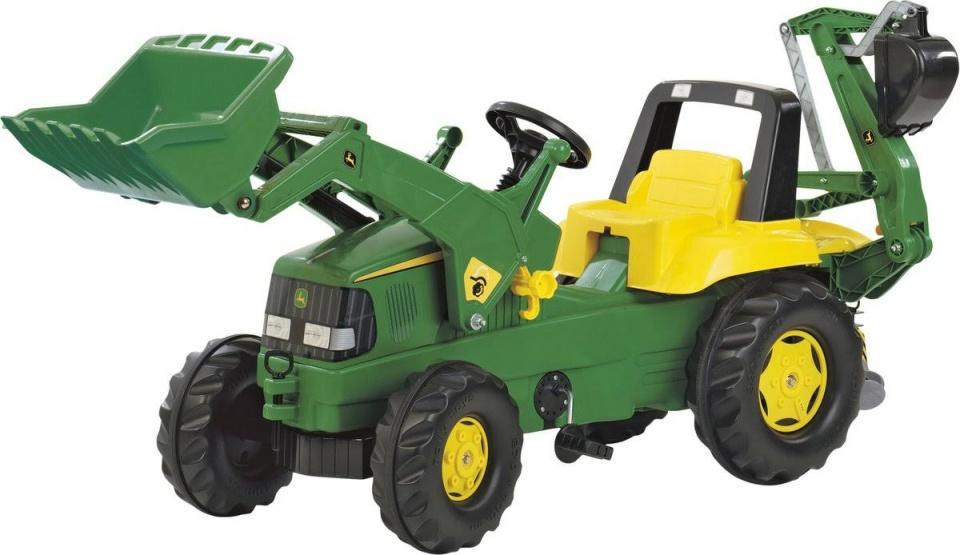 Rolly Toys 811076 RollyJunior John Deere Tractor met Lader en Graafmachine