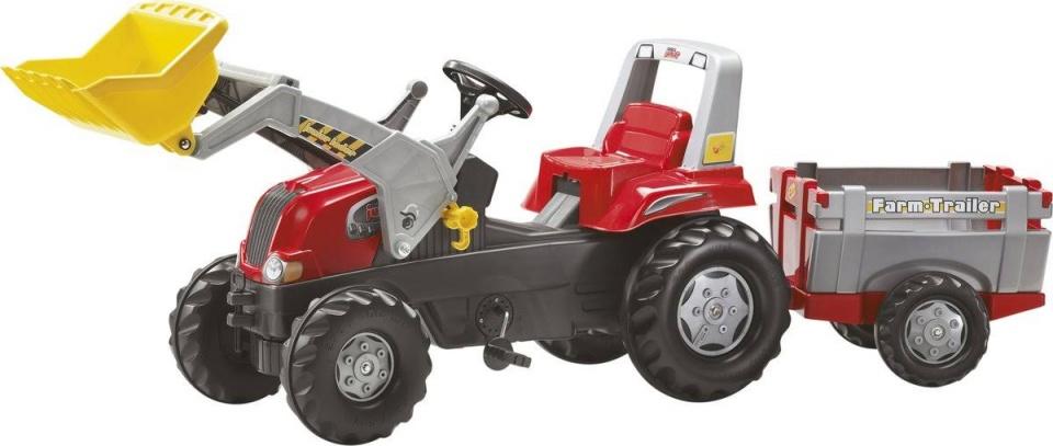 Tractor met Lader en Farmtrailer
