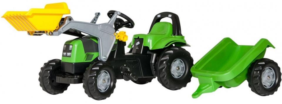 Rolly Toys 023196 RollyKid Deutz-Fahr Tractor met Lader en Aanhanger