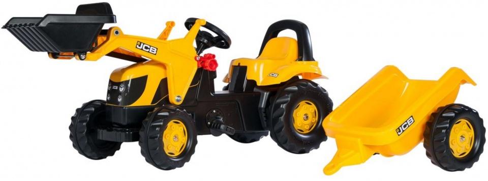 Rolly Toys 023837 RollyKid JCB Tractor met Lader en Aanhanger