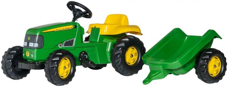 Rolly Toys traptractor RollyKid John Deere junior groen/geel