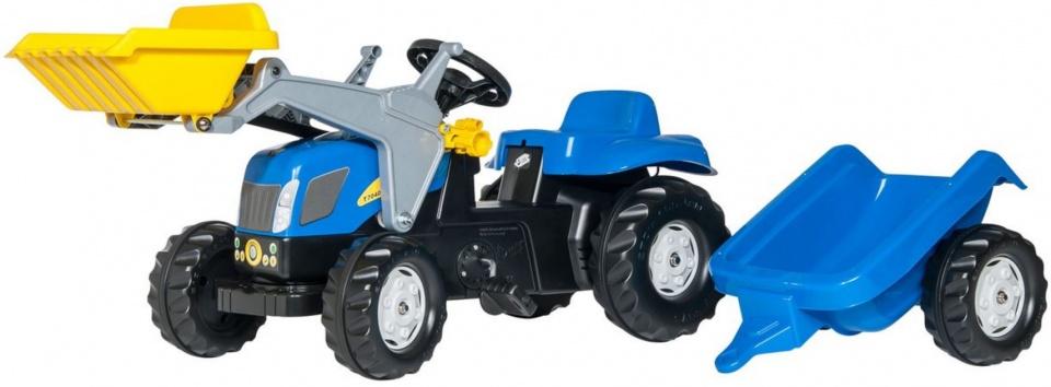 Rolly Toys 023929 RollyKid NH TVT 190 Tractor met Lader en Aanhanger