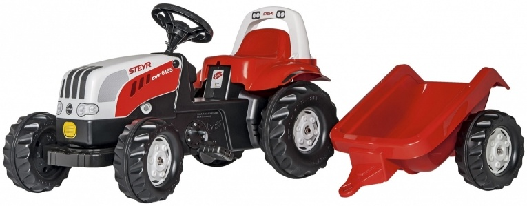 Rolly Toys 012510 RollyKid Steyr 6190 CVT Tractor met Aanhanger