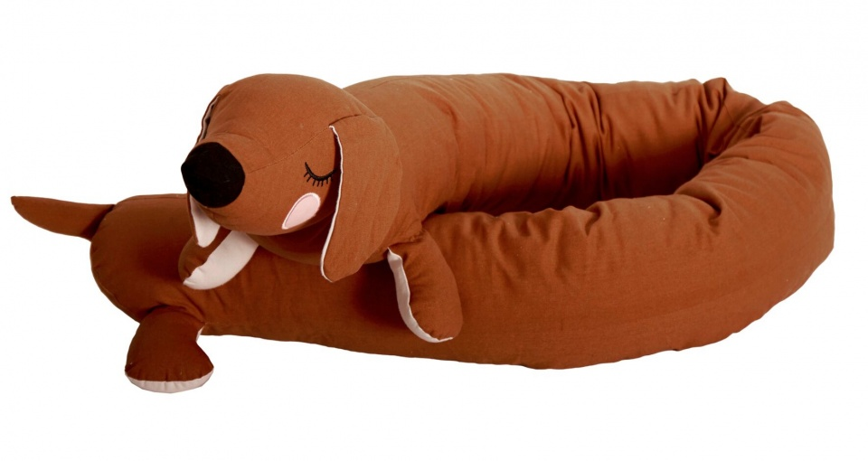 Roommate knuffel Lazy Dog Long bruin175 cm