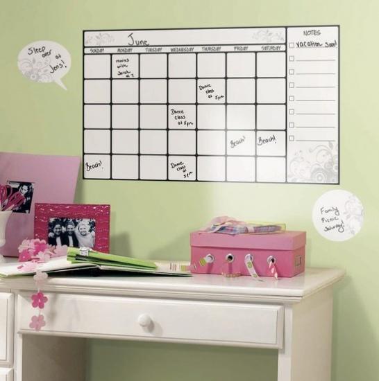 RoomMates muurstickers calendar whiteboard 7 stickers
